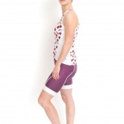 Cycling korte broek en top cherry