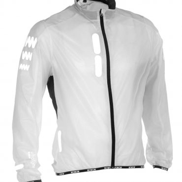 Reflective rain jacket with reflective parts for high visibilité!