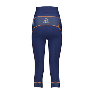 "Comfortable running tight (3/4) for ladies made of sustainable material, with non-slip band at the calfs and key-pocket with zipper at the back. Matches perfectly with top ""Free as a bird""! Run in style, girls!"