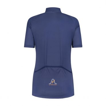 short sleeved bike shirt - blue/orange zip