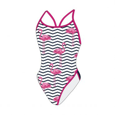 Fancy swimsuit flamingo print