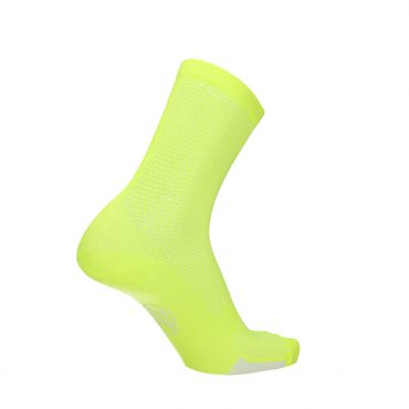 fluo yellow sock for running and cycling