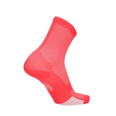 sock - run & bike - fluo red
