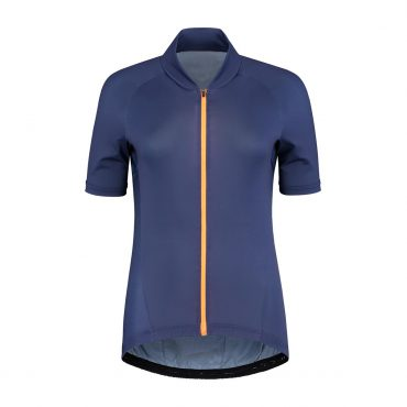 Maillot de  cycliste manches courtes – Blue/zip orange