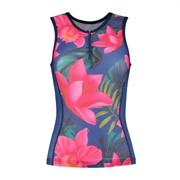 Top with zipper Lilly - cycling and running - ladies